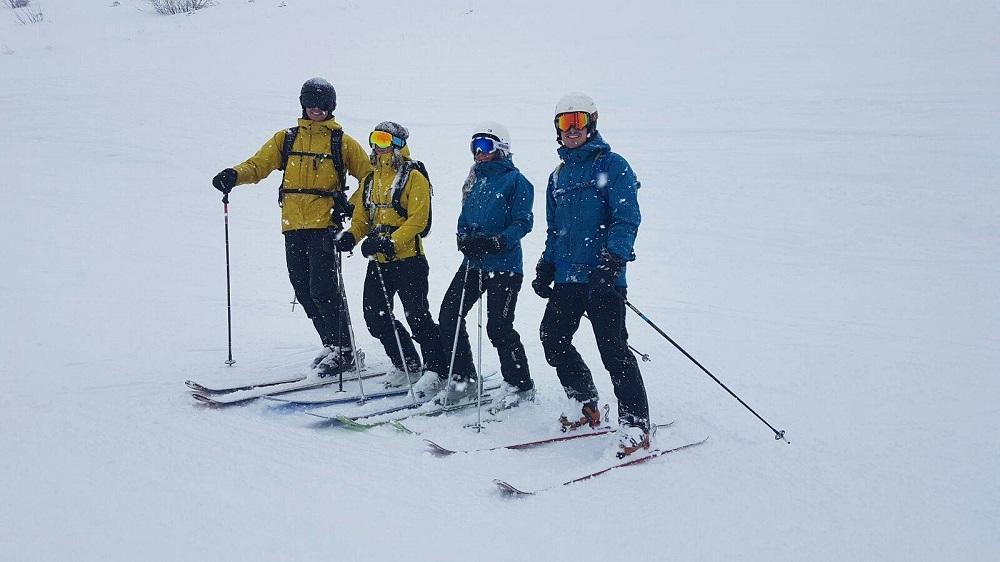 Skiiers wearing Cortèz jackets