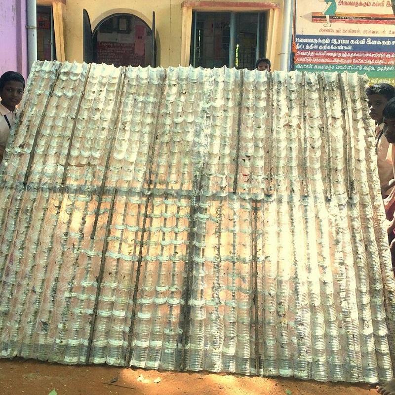 Water Bottle Roof -Tamil Nadu