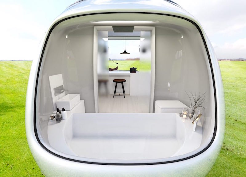 MINI-Inspired Camping Pod - Bathroom