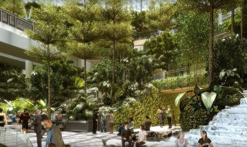 Forest valley world s largest indoor waterfall coming to for Indoor gardening singapore