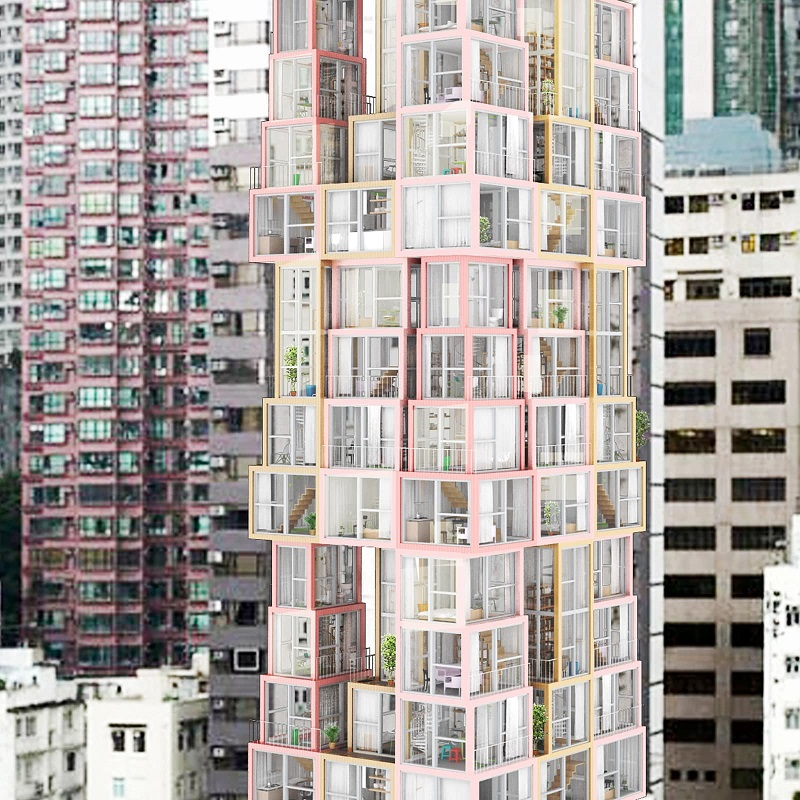 Towers Within a Tower -Kwong Von Glinow Design Office
