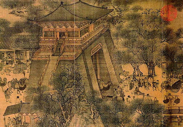 """Along The River During the Qingming Festival"" - Zhang Zeduan."