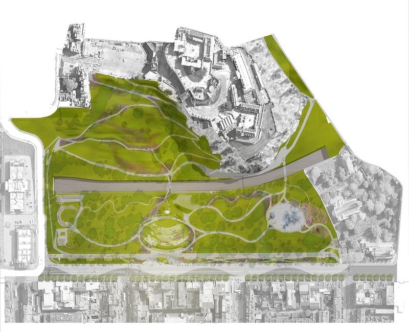 West Princes Street Gardens - plan