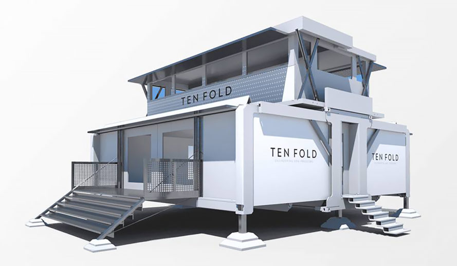 Self-Deploying Structure - Ten Fold Engineering