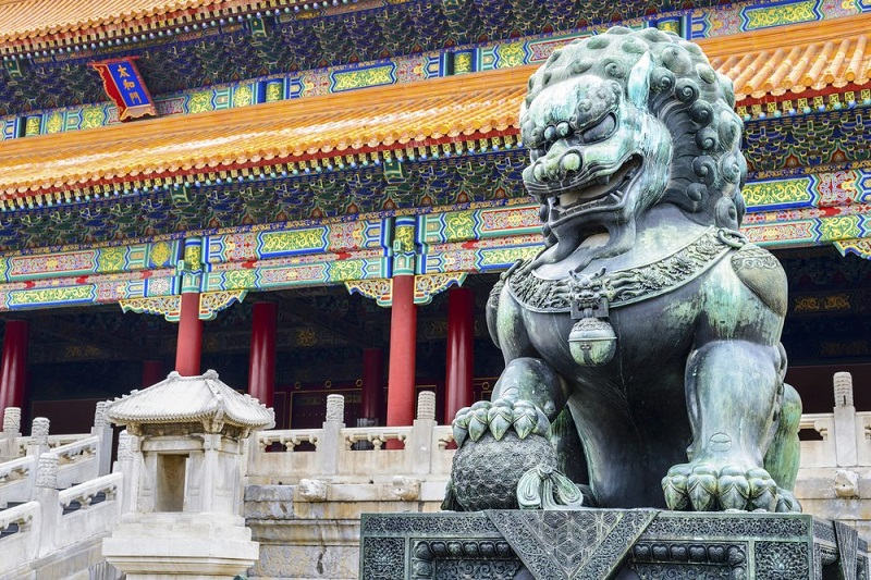 Guardian Lion - Chinese Temple
