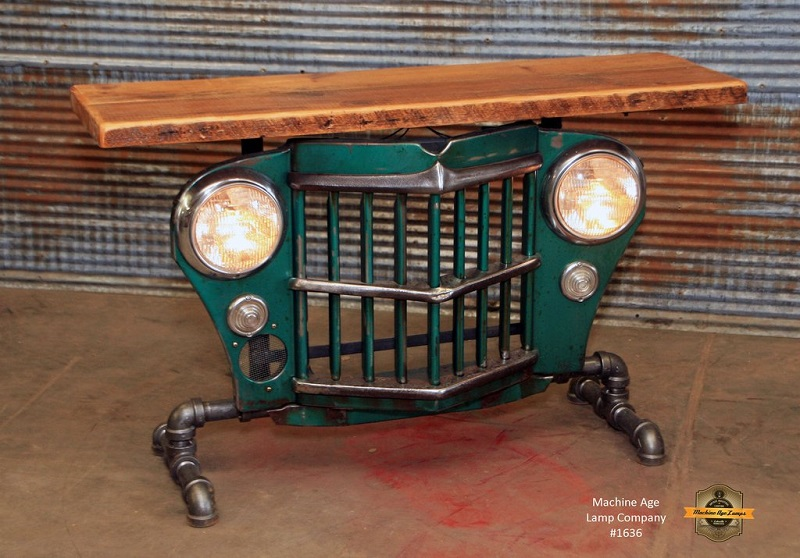50s Jeep Grille Table - Machine Age Lamps