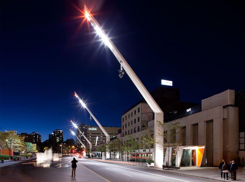 Quartier des Spectacles Lighting - Valmont Structures Canada