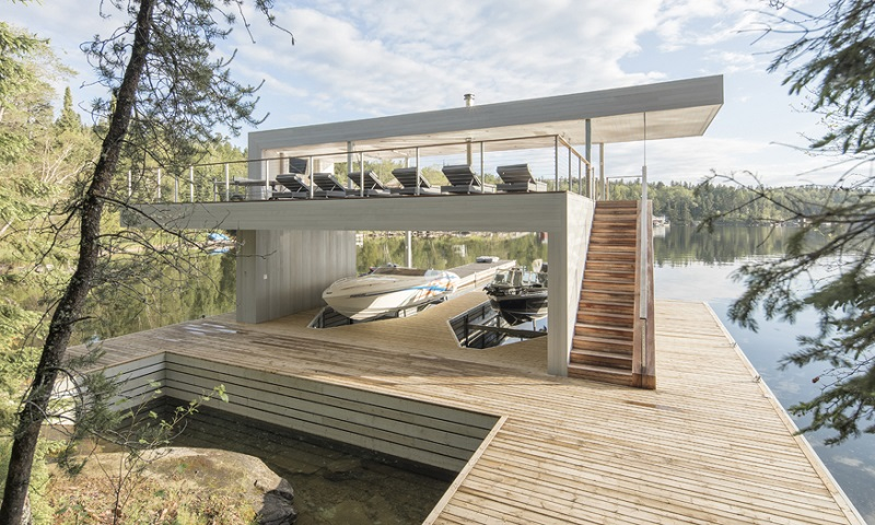 Lake Life: This Gorgeous Modern Boathouse in Canada is a Cool Place to Party