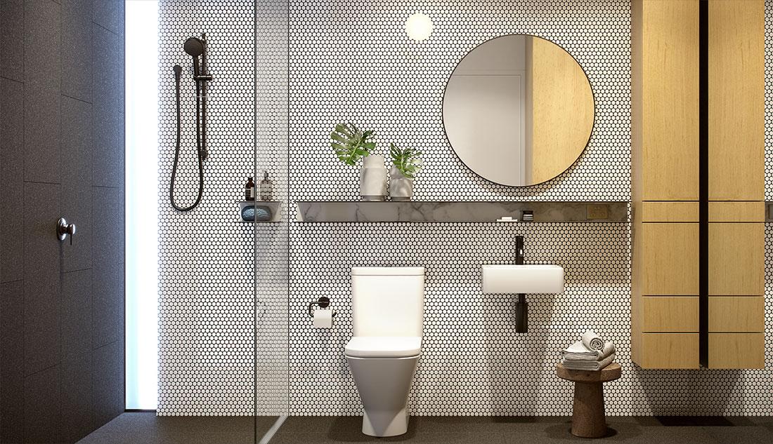 Cirqua Apartments - Bathroom