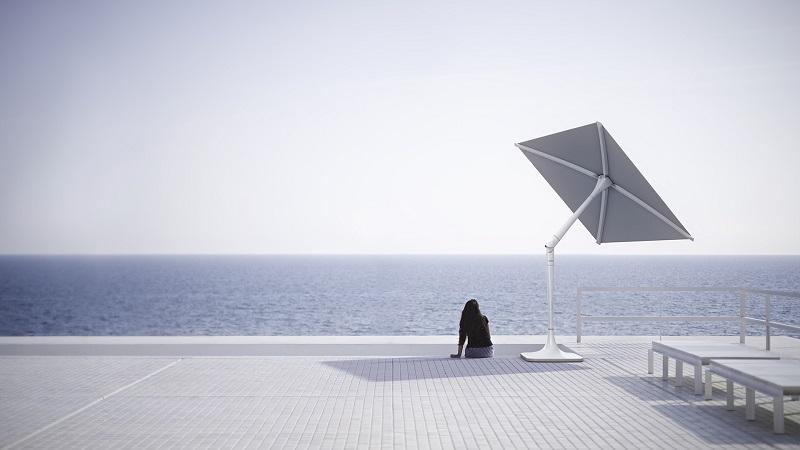 Shadecraft Sunflower High Tech Umbrella Serves As An