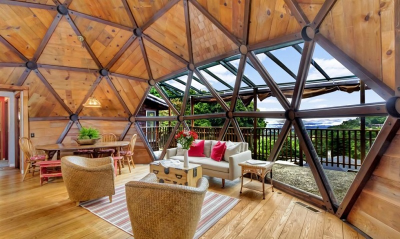 Northern California Dream Handcrafted Geodesic Dome Home