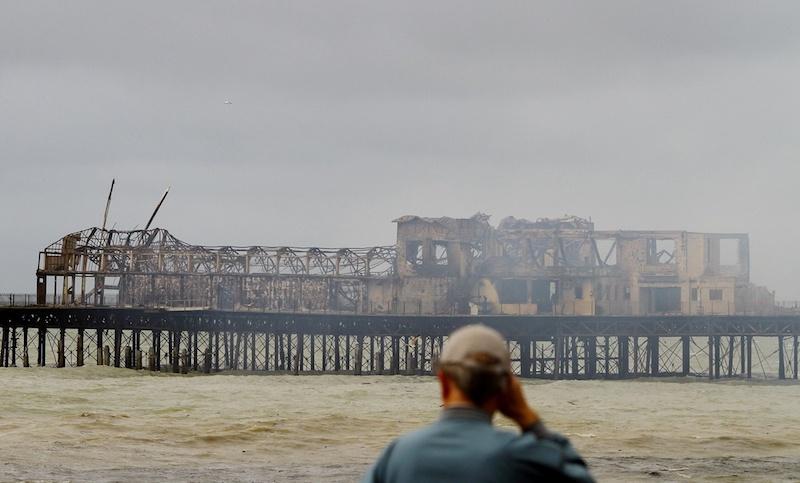 Destroyed Hastings Pier