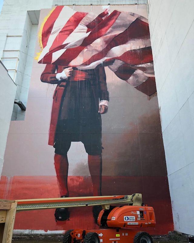 Juxtapoz Clubhouse Mural - Conor Harrington