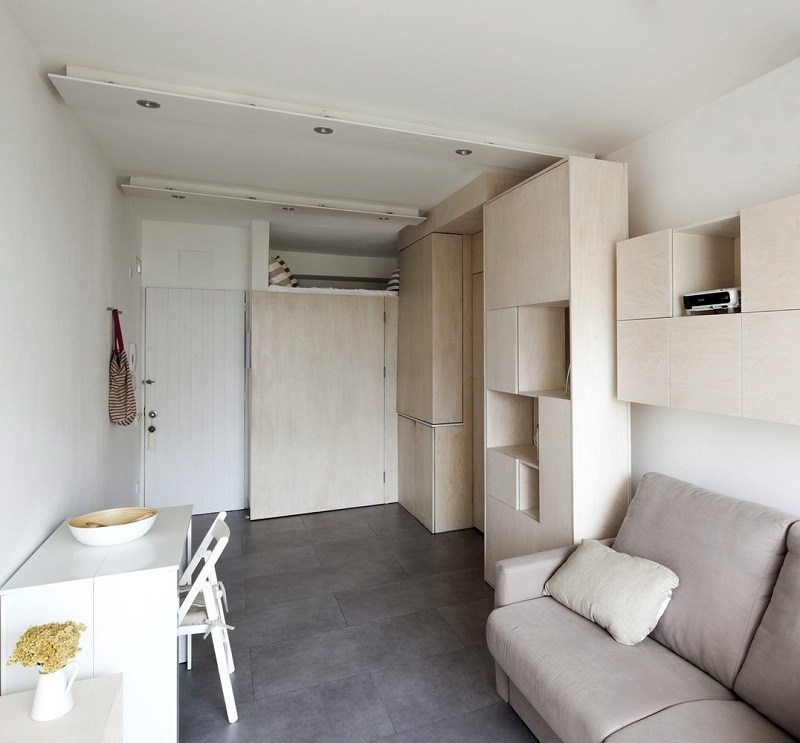 Transforming Modular Furniture System Makes MicroApartment