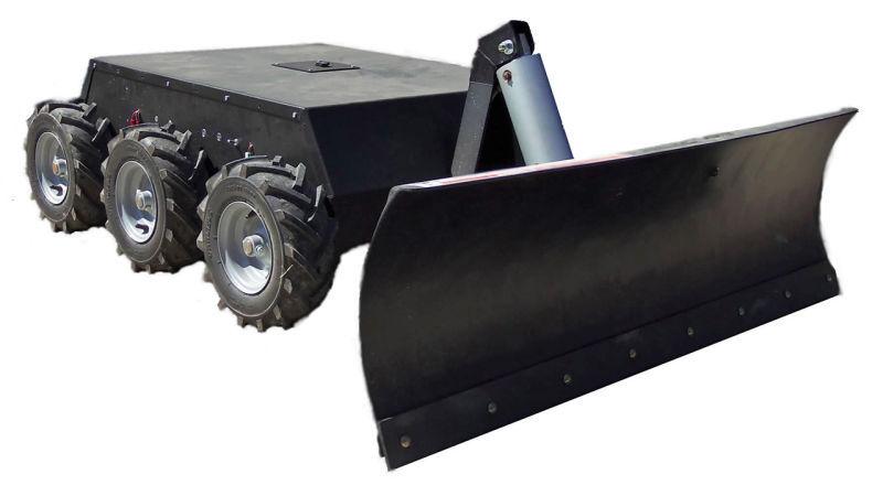 6WD RC Snow Plow Robot - Superdroid Robots
