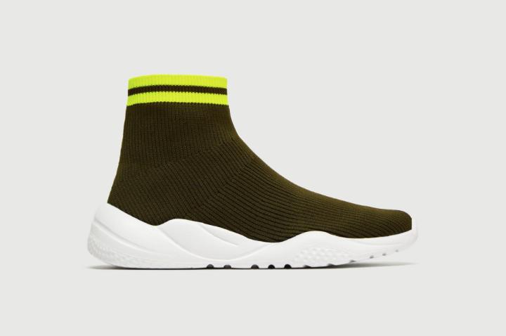 Zara Stretch Fabric High Top Sneaker