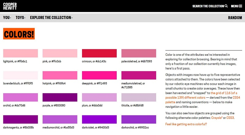 Search by Color - Cooper Hewitt Online Collection