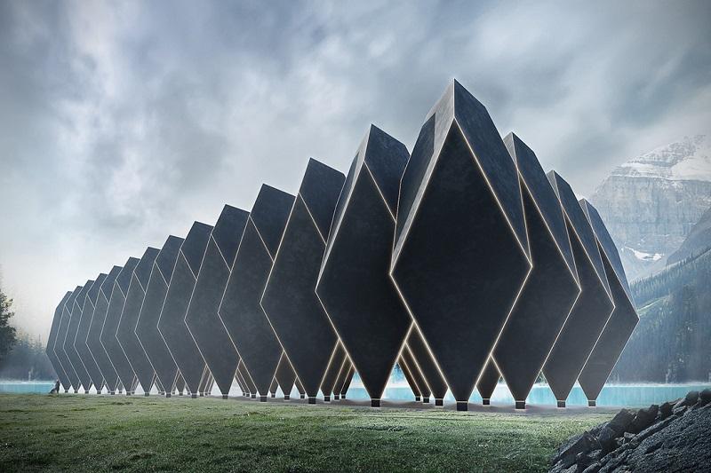 Diamond Shaped Pods At The Modular Tetra Hotel Designs