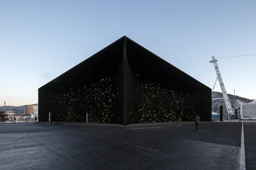 "Asif Khan Creates ""Darkest Building On Earth"" For Winter Olympics"