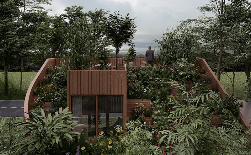 Yin & Yang House: An Off-Grid Urban Home with a Walk-Up Green Roof