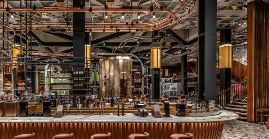The Main Bar On The Mezzanine Level Of The Starbucks Roastery