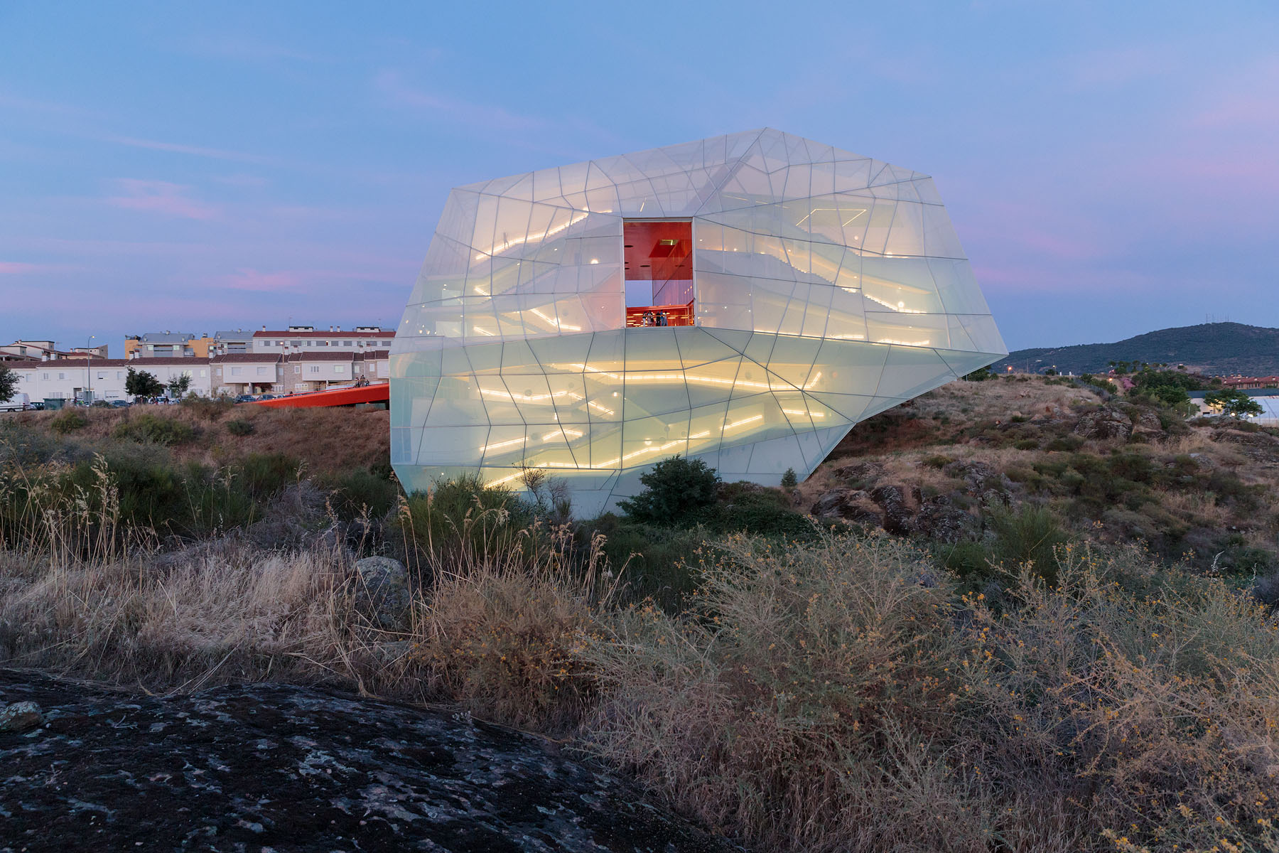 This Angular Glowing Conference Center is All About the Environment