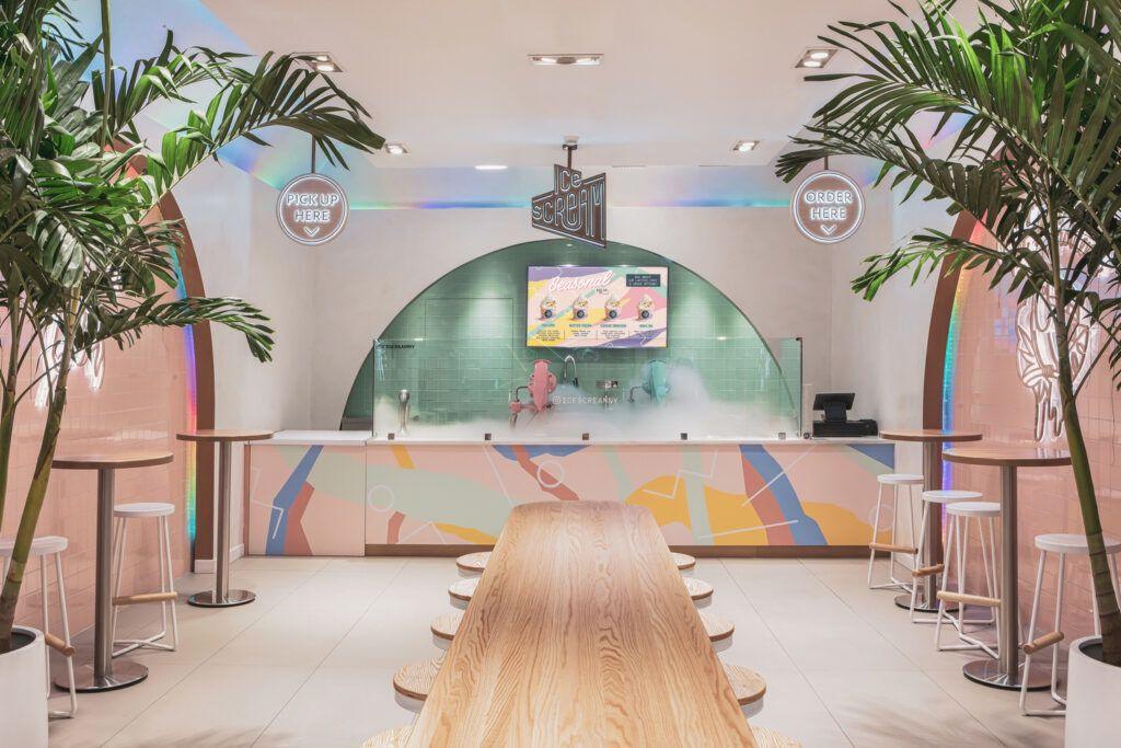 The 80s Are Back At This Memphis Design Inspired Ice Cream Shop Designs Ideas On Dornob,Professional Background Facebook Cover Photo Design